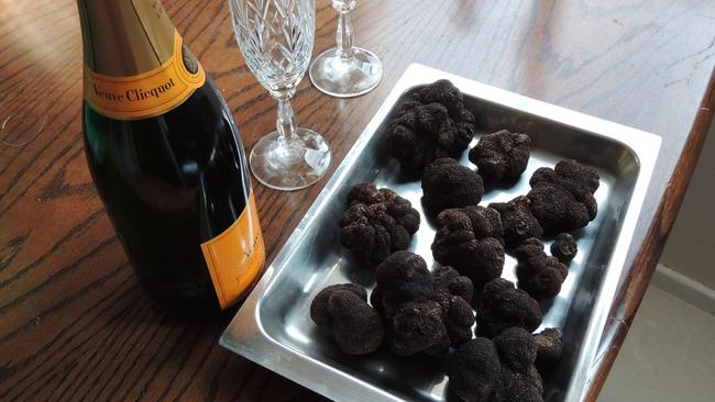 Truffle and bubbles. The good life. Picture: Supplied
