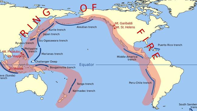 The Pacific 'Ring of Fire'.