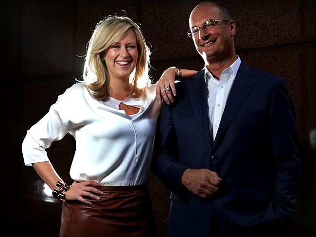 Former Sunrise co-host Melissa Doyle with David Koch.