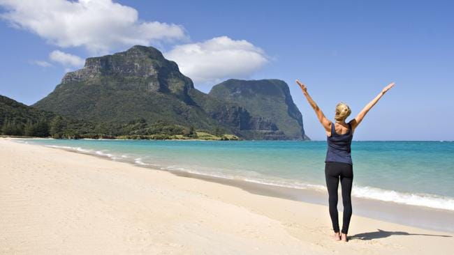 Lord Howe Island... A wonderful place for yoga. Picture: Supplied