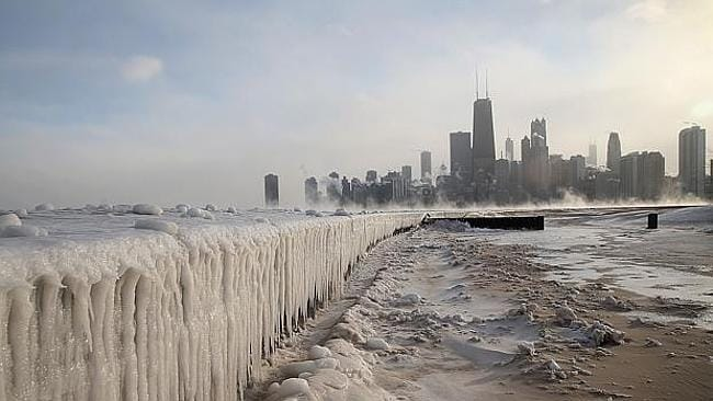 This is what the polar vortex did to the Chicago lakefront. And that's further south than Canada, don't ya know.