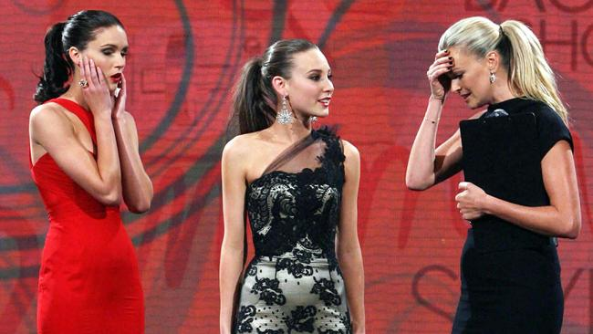 Oops ... Australia's Next Top Model host Sarah Murdoch announced the wrong winner. Picture: AP/Foxtel