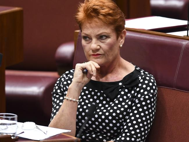 One Nation leader Pauline Hanson has swung her senators' support behind the government's proposed changes. Picture: Lukas Coch/AAP