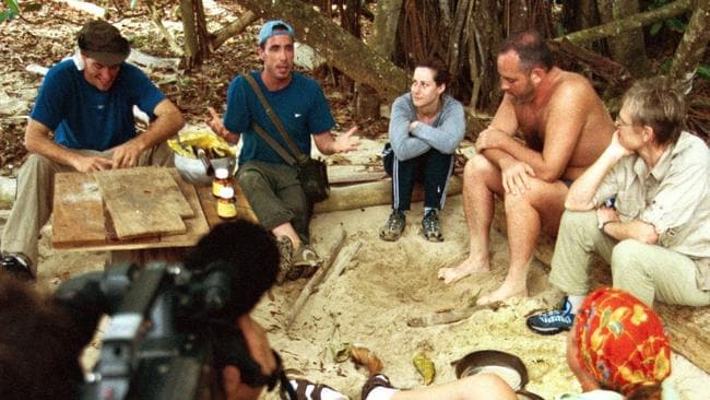 First season ... a shot of filming of the very first instalment of long-running reality series Survivor in 2000, on the island of Pulau Tiga.