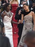 Viola Davis and Thandie Newton attend The 23rd Annual Screen Actors Guild Awards at The Shrine Auditorium on January 29, 2017 in Los Angeles, California. Picture: Getty
