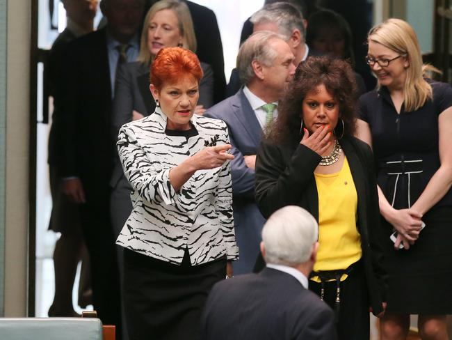 The Newspoll survey reveals support for One Nation in the lower house has risen to six per cent from 1.3 per cent on election day. Picture: Kym Smith