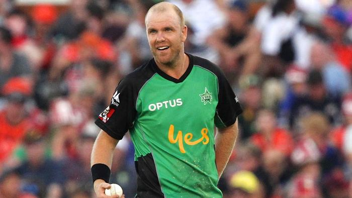 Michael Beer of the Stars during the Big Bash League (BBL) T20 match between the Perth Scorchers and the Melbourne Stars at the WACA, Perth on Saturday, Jan. 14, 2017. AAP Image/Richard Wainwright NO ARCHIVING, EDITORIAL USE ONLY, IMAGES TO BE USED FOR NEWS REPORTING PURPOSES ONLY, NO COMMERCIAL USE WHATSOEVER, NO USE IN BOOKS WITHOUT PRIOR WRITTEN CONSENT FROM AAP