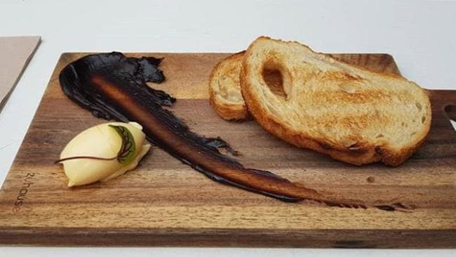 This is what is served up when you order Vegemite toast at Core Espresso in Newscastle, NSW.