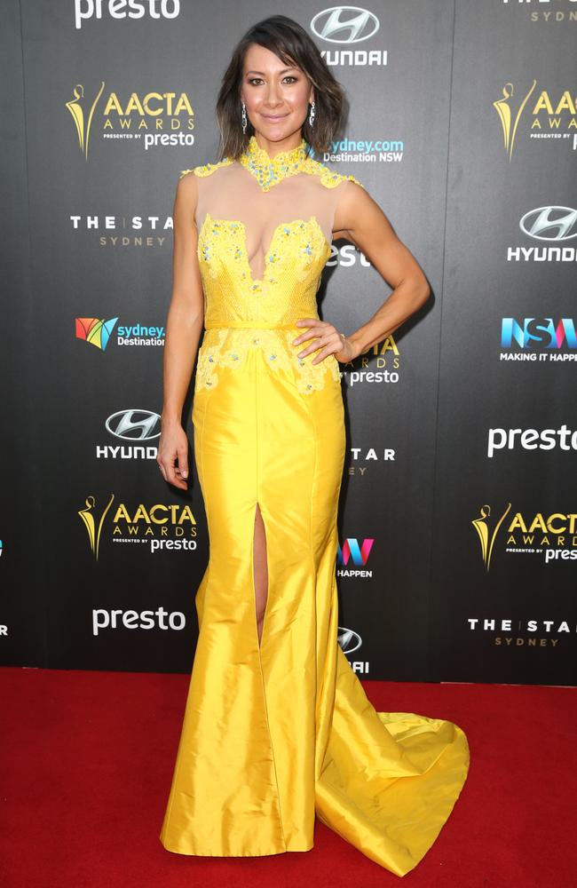 Peta Sergeant arrives ahead of the 5th AACTA Awards Presented by Presto at The Star on December 9, 2015 in Sydney, Australia. Picture: Richard Dobson
