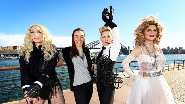 Material girl! maddona through the ages at Circular Quay.