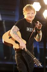 "Ed Sheeran performs ""Shape of You"" during The 59th GRAMMY Awards at STAPLES Center on February 12, 2017 in Los Angeles, California. Picture: AP"
