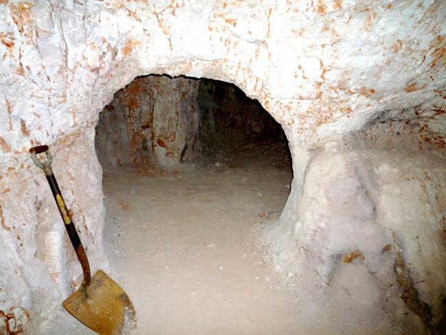 A typical underground dugout.