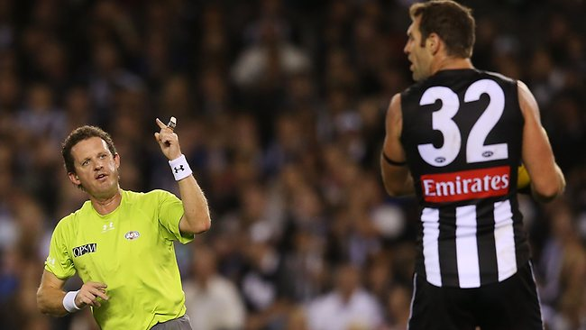 Travis Cloke gives away a 50m penalty.