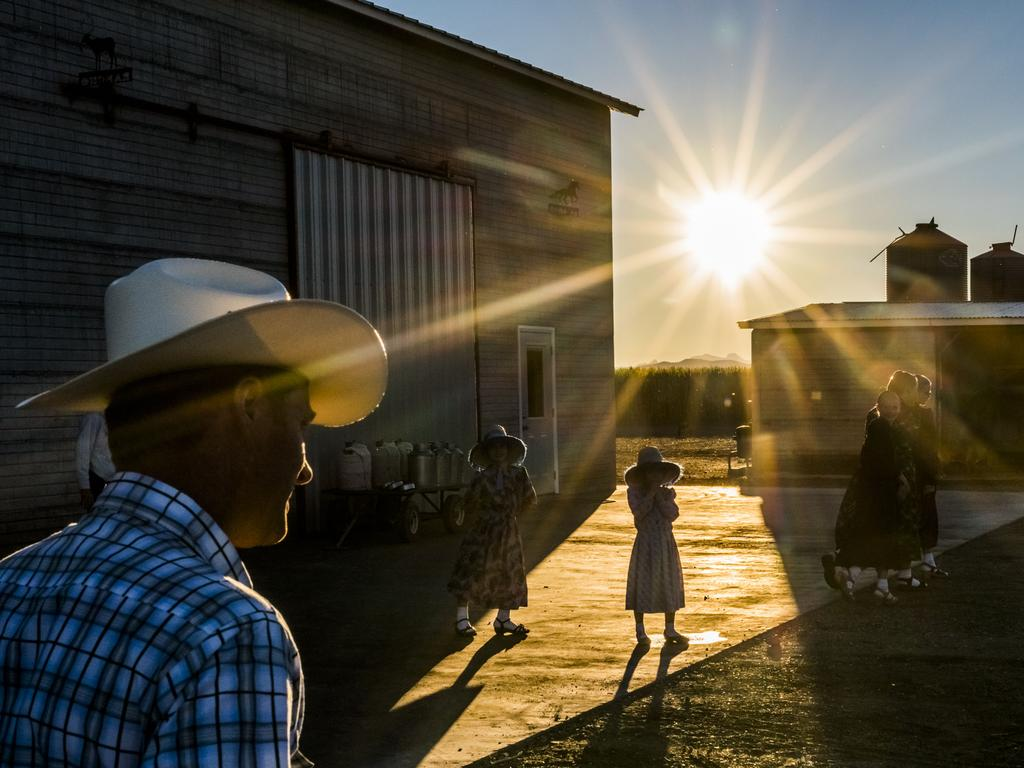 """Mennonite children play as they entertain nearby family visiting for a Sunday lunch gathering in Capulin, Mexico."" Picture: Daniel Berehulak, Australia, Shortlist, Professional People, 2016 Sony World Photography Awards"
