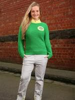 Australian squash player Sarah Cardwell poses during the 2014 Australian Commonwealth Games Team Formal Uniform Unveiling at Glasgow Street Collingwood on June 4, 2014 in Melbourne, Australia. (Photo by Scott Barbour/Getty Images)