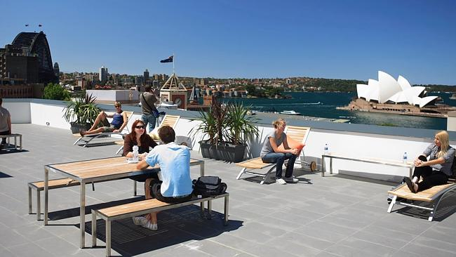 Amazing views top off the attractions at Sydney Harbour YHA. Image courtesy of Sydney Harbour YHA.
