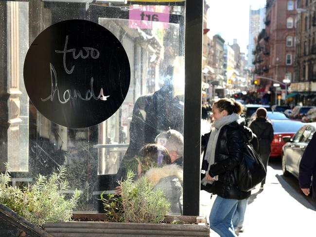 The exterior of Two Hands on Mott Street. Picture: Alex Towle Photography for news.com.au