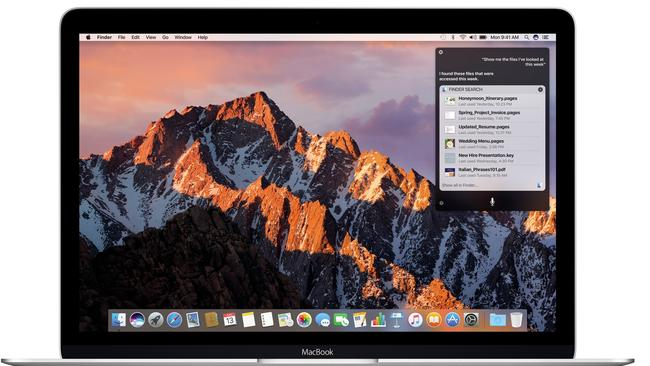 MacOS Sierra: Siri now has a home on the Mac
