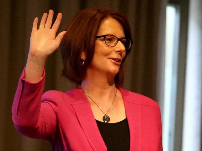 Ex-PM Julia Gillard at her most recent public appearance last month. Picture: David Geraghty
