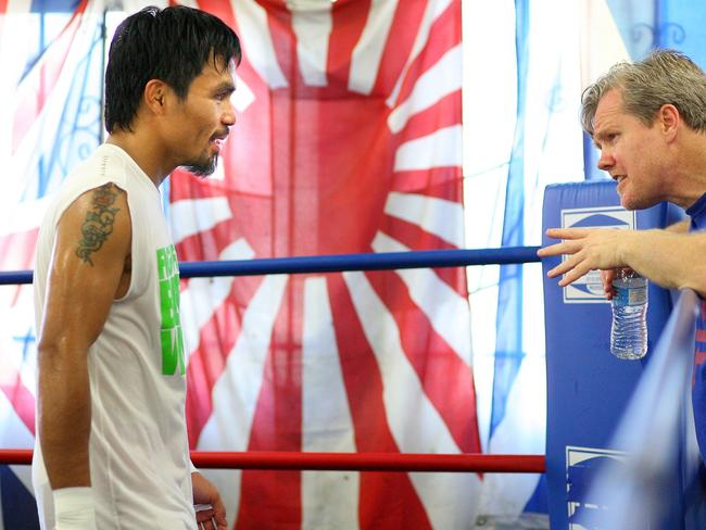Roach says Pacquiao will knock Jeff Horn out. Picture: Top Rank