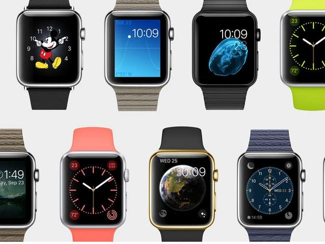 Customisable ... wearers can change the colour of their Apple Watch wrist bands. Picture: Apple