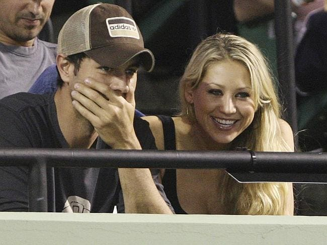 Enrique and Anna at the Sony Ericsson Open tennis tournament in Key Biscayne, Florida, 2009.