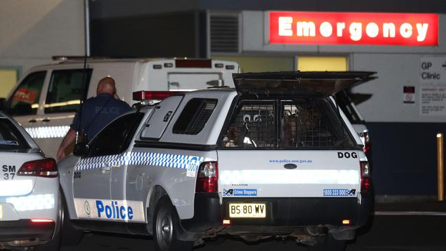 A security guard and Police officer have been shot at Nepean Hospital. Pics Bill Hearne