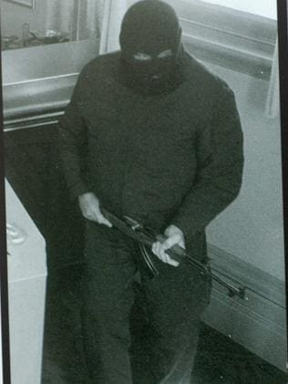The notorious Adelaide Hills Bicycle Bandit, captured on security cameras during a previous incident.