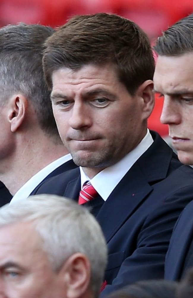 Overwhelming grief ... Liverpool captain Steven Gerrard, whose ten-year-old cousin died in the Hillsborough disaster, attends the 25th anniversary memorial service at Liverpool's Anfield stadium.