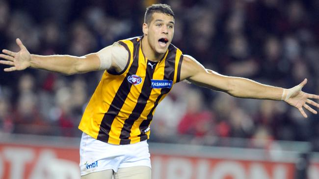 A young, clean-skinned Lance Franklin in 2008. Picture: Stephen Harman