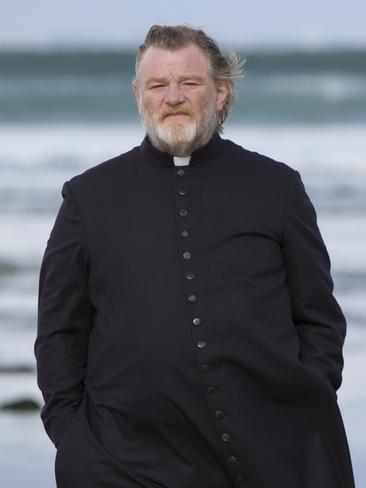Brendan Gleeson's character refuses to run from the threat to his life.