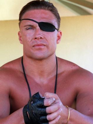 Parcel-bomb victim Brett Boyd at Bondi Beach in 1999.