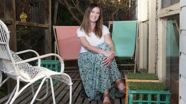 """Nicole Haddow runs a website for Millenials trying to break into the property market at  <a href=""""http://www.smashedavocado.net"""" rel=""""nofollow"""" target=""""_blank"""">smashedavocado.net</a> Picture: Sarah Matray"""