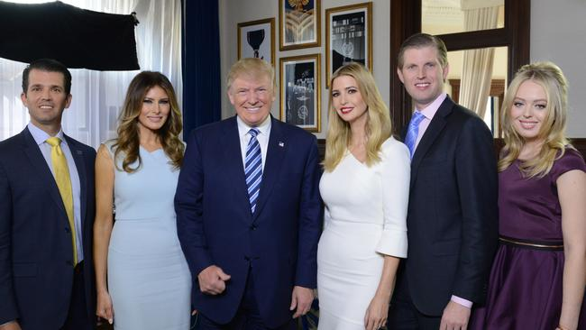 Tiffany (far right) wasn't close to the rest of the Trumps growing up.