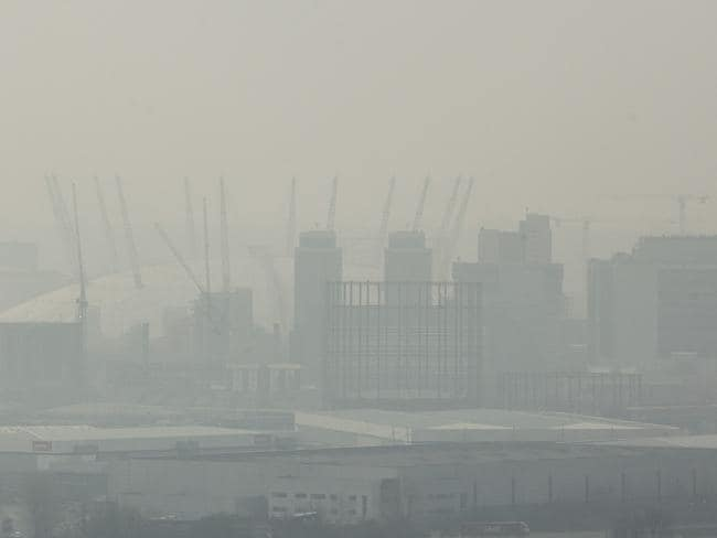 London under a blanket of smog. Doctors have called for a ban on diesel engines in the city. Picture: Dan Kitwood/Getty Images