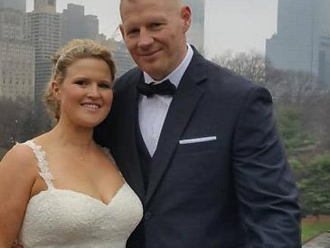 The husband and wife married last Christmas in New York's Central Park.