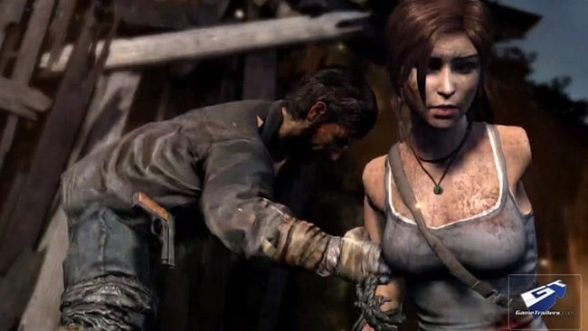 Lara Croft is portrayed as vulnerable, and weak in the latest version of Tomb Raider. Picture: Kotaku