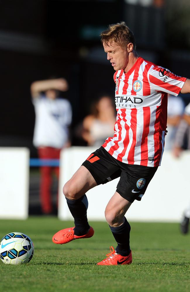 Damien Duff shows his quality on the ball for new club Melbourne City.