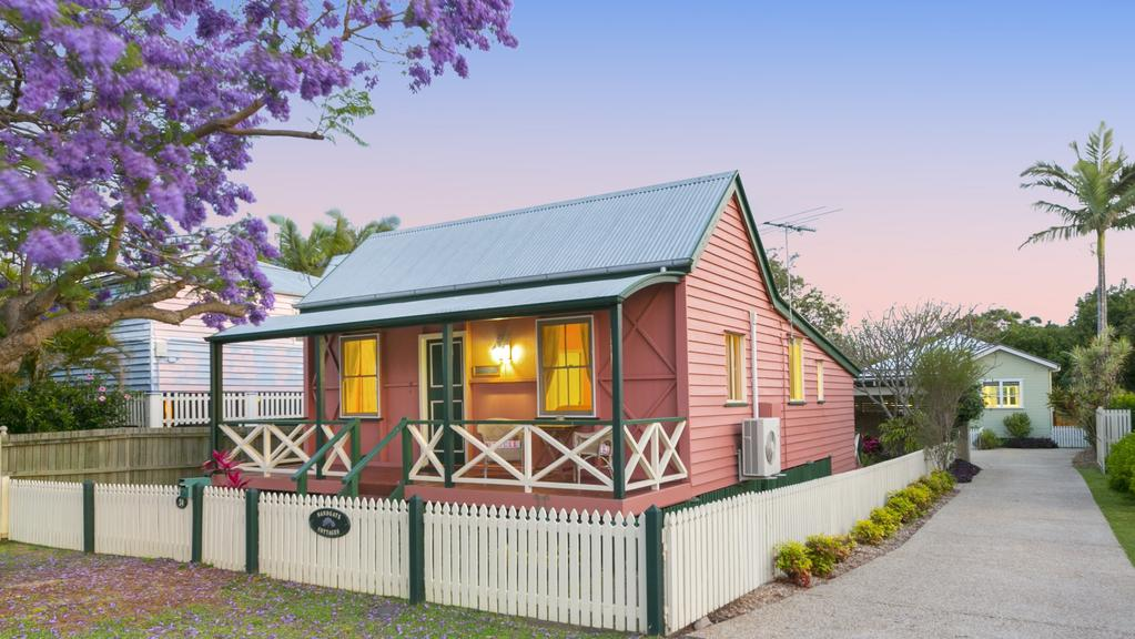 The two renovated cottages at 24 Connaught St, Sandgate, have been popular vacation rentals.