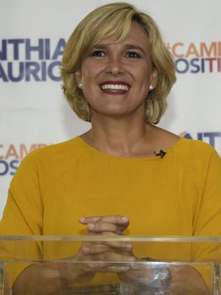 Ecuadorean presidential candidate for the Social Christian party, Cynthia Viteri. Picture: AFP/Rodrigo Buendia