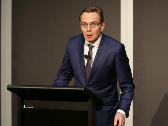 BHP Billiton CEO Andrew Mackenzie pictured in an earlier press conference following the disaster.