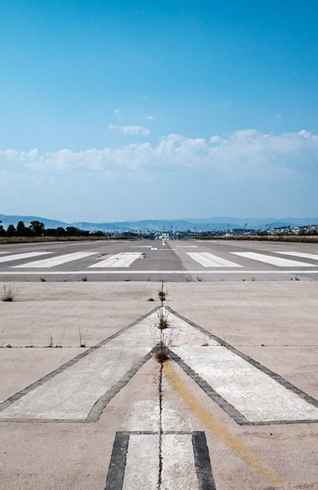A cracked runway. Picture: Vassilis Makris