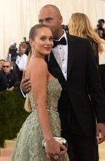 "Hannah Davis and Derek Jeter attend the ""Manus x Machina: Fashion In An Age Of Technology"" Costume Institute Gala at Metropolitan Museum of Art on May 2, 2016 in New York City. Picture: AP"