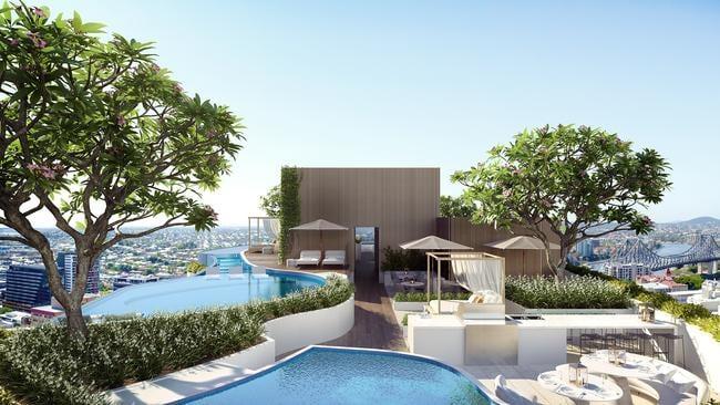 One of Mr Gurner's luxury developments in Brisbane's Fortitude Valley.