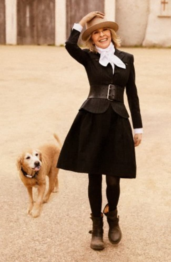 Diane and a four-legged friend in 2012. Picture: Ruven Afanador/Corbis