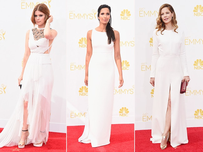 Kate Mara, Padma Lakshmi and Michelle Monaghan. Picture: Getty