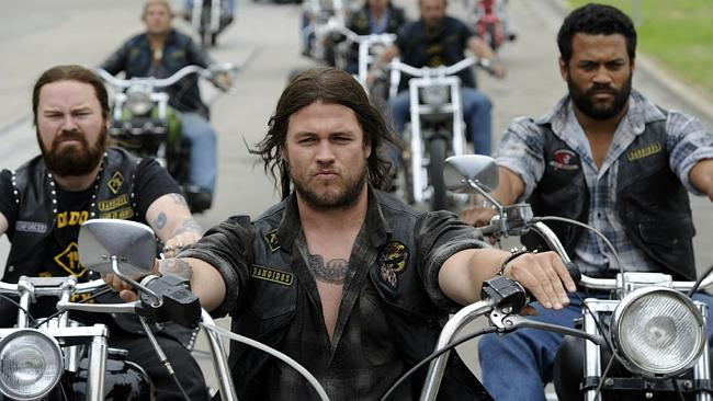 Luke Hemsworth starred in the 2012 Channel 10 TV miniseries 'Brothers In Arms', about the 1984 Milperra bikie war massacre.