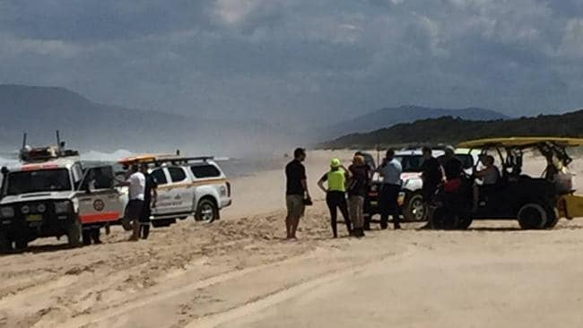 Crews have resumed searching for the 11-year-old boy this morning. Picture: Port Macquarie Lifeguard Service