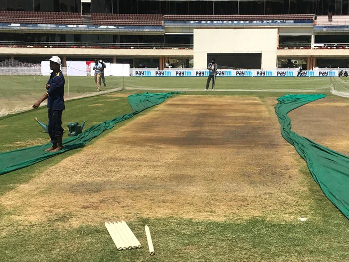 The Ranchi pitch before play.