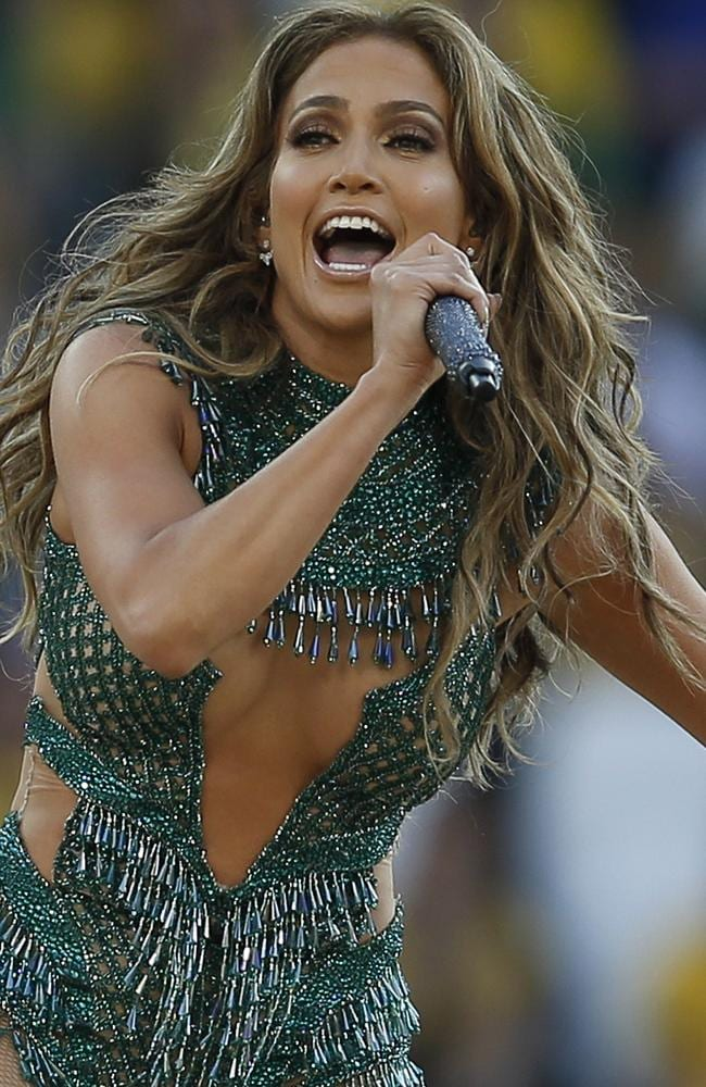 US singer Jennifer Lopez performs during the opening ceremony of the 2014 FIFA World Cup in Sao Paulo.